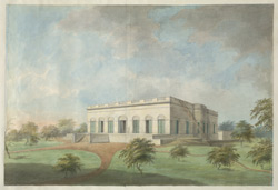 Thomas Fortescue's large single-storeyed bungalow at Allahabad in extensive grounds